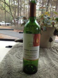 The offending bottle of wine. It wasn't even a nice one!