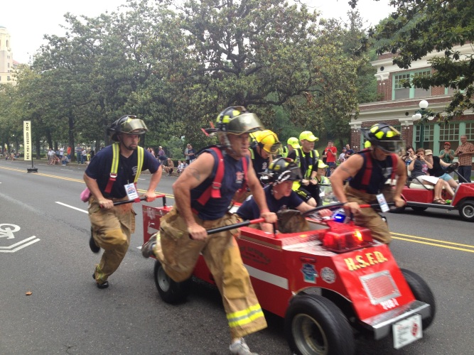 The local firemen team.