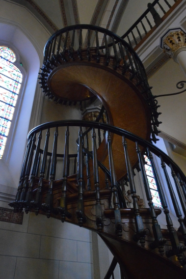 Famous staircase at Loretto Chapel