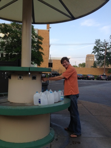 Deas getting his free water