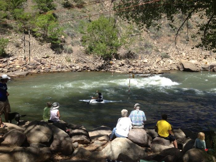 Kayaking competition