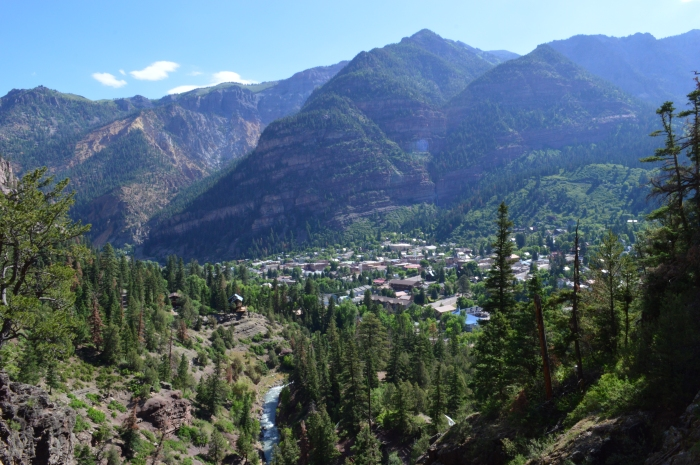 View of Ouray from the trail