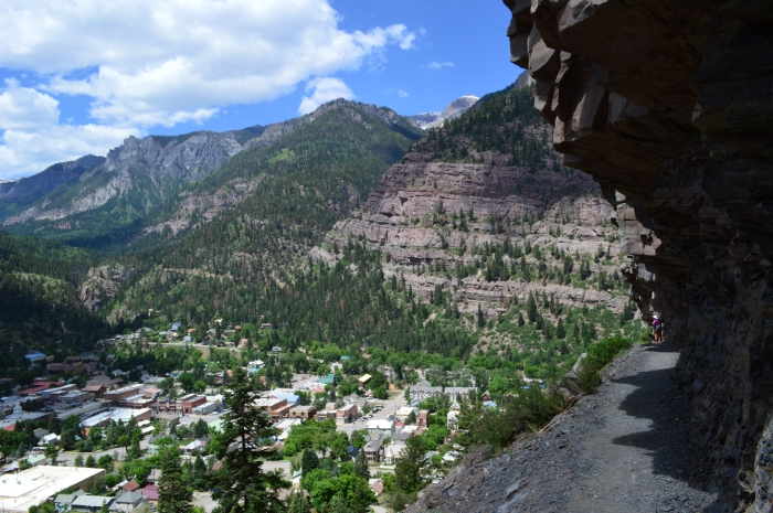 The Perimeter Trail overlooking Ouray