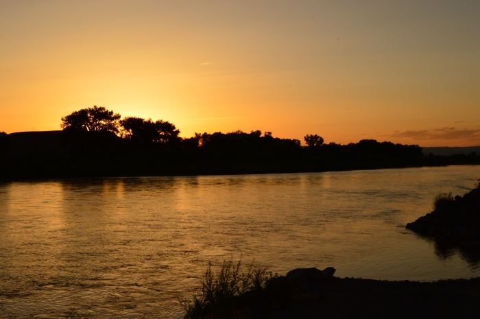 Sunset over the Colorado River