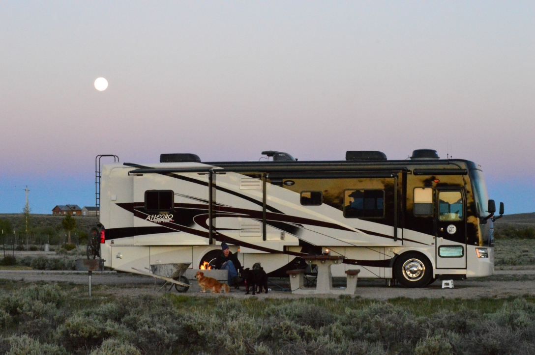 Supermoon over the RV