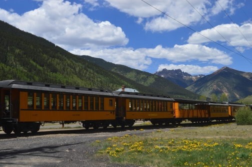 Train cars in Silverton