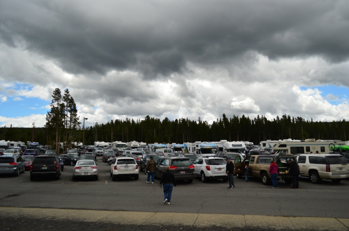 Parking lot at Old Faithful