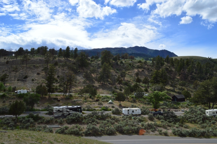 Our RV at Mammoth Springs campgruond