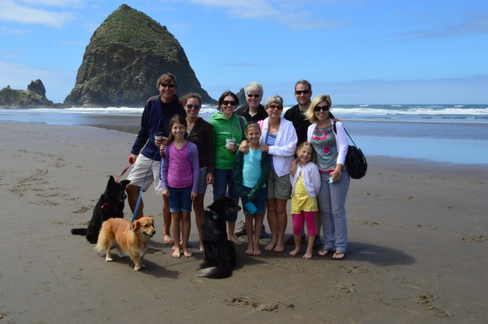 The fam at Cannon Beach