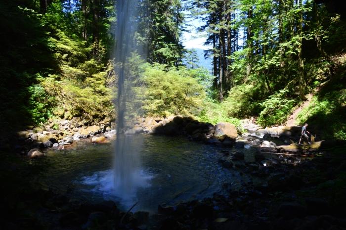 Behind Horseshoe Falls
